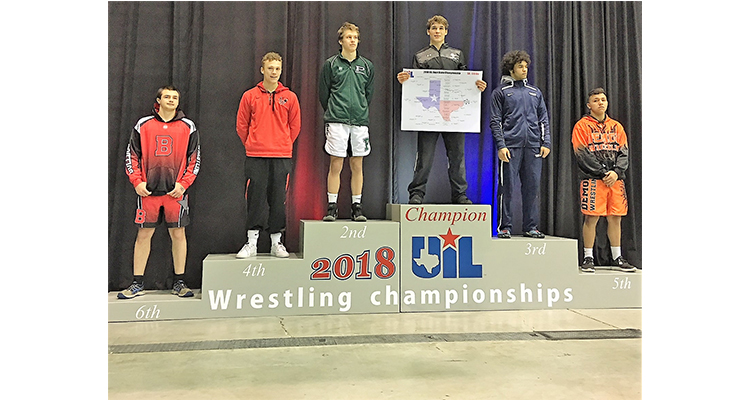 Photo for Senior, Dillon Thomas Wins UIL 5A State Wrestling Title!